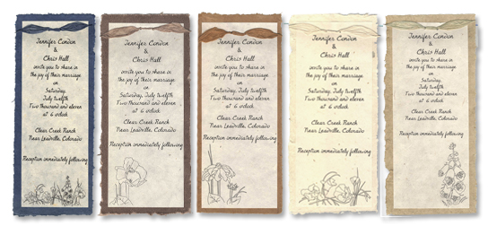 Seed Paper Wedding Invitations Wildflower Seeded Papers 45x6 with