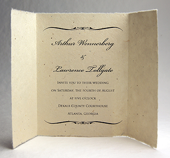 6x9 bifold invitation