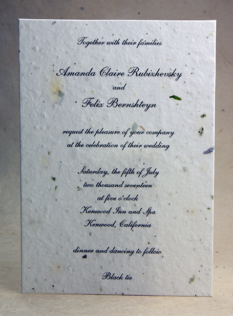 Seed Paper Wedding Invitations Wildflower Seeded Papers 10s Cut