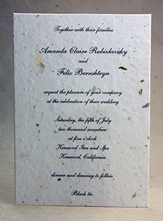 5x7 invitation with vegetables