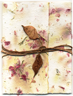 #2s Handmade paper with Hemlock Eco-Twist Lotka Paper Wrap