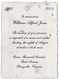 "4.5"" x 6"" Seeded Invitations with Flowers Embedded"