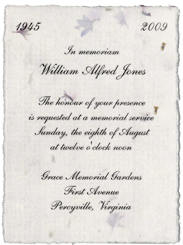 memorial invitations from handmade paper wedding invitations