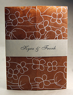 poppy invitation wrap