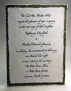 layered panel invitation