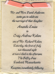 handmade party invitation