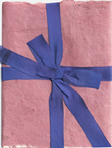 Lotka Rose Wrap with Periwinkle Earth Satin Ribbon