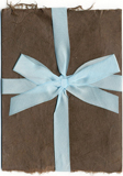 6x9 Chocolate Wrap With Silk Ribbon