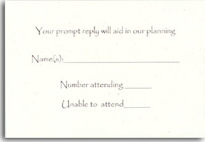 Recycled Reply Card
