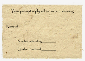Lotka Pre Printed Reply Card