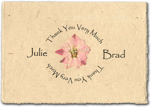 custom printed pressed flower thank you card