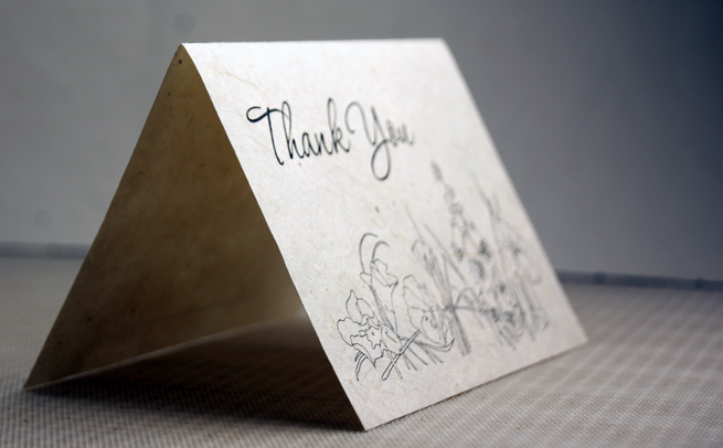 seed paper thank you card