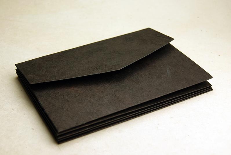 invitation pocket fold handmade cotton and lotka paper wraps