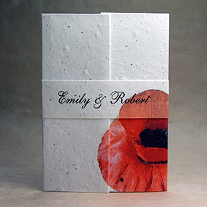 ... seed paper wedding invitations with fern ...