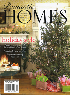 December 2008 Romantic Homes magazine feature article