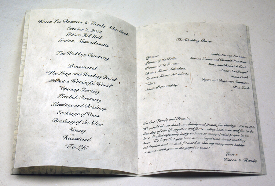 wedding programs on handmade seed paper diy and custom options