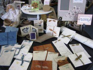 paper display at Lila's Scrapbooking
