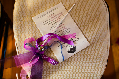wedding program on seeded paper