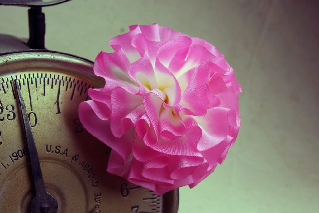 Pink Silk Flower Hair Clip