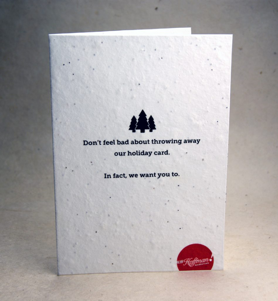 Front of seed paper holiday card.
