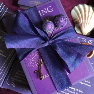 purple colored gift wrapping