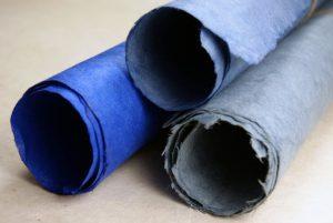 Blue lotka handmade paper