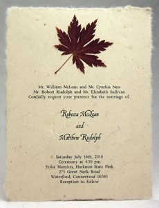 Maple Leaf Accent Invitation