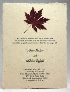 Maple Leaf Accent Invitation