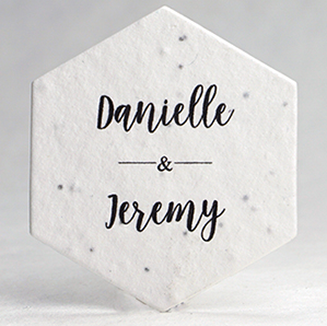 Customized Hexagon Favors