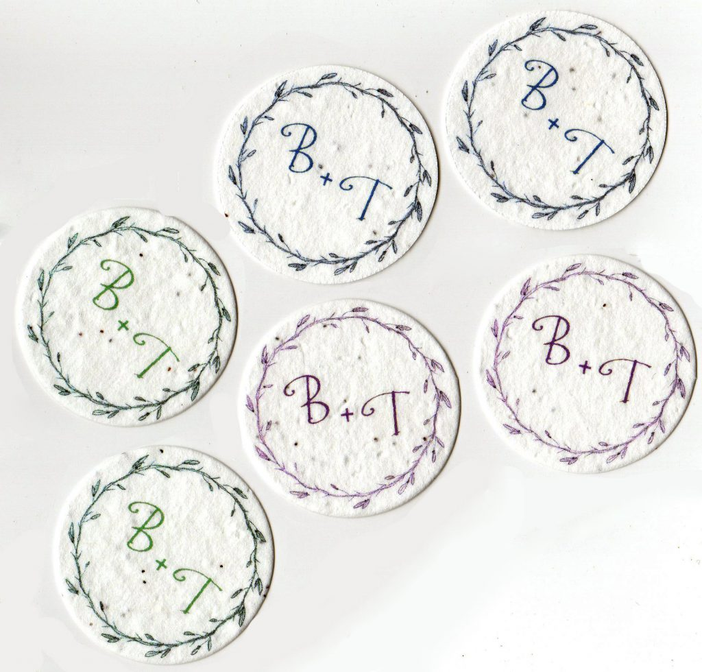 Customized seed paper favors