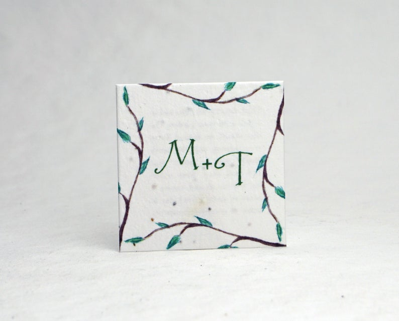 Customized Seed Paper with Initials