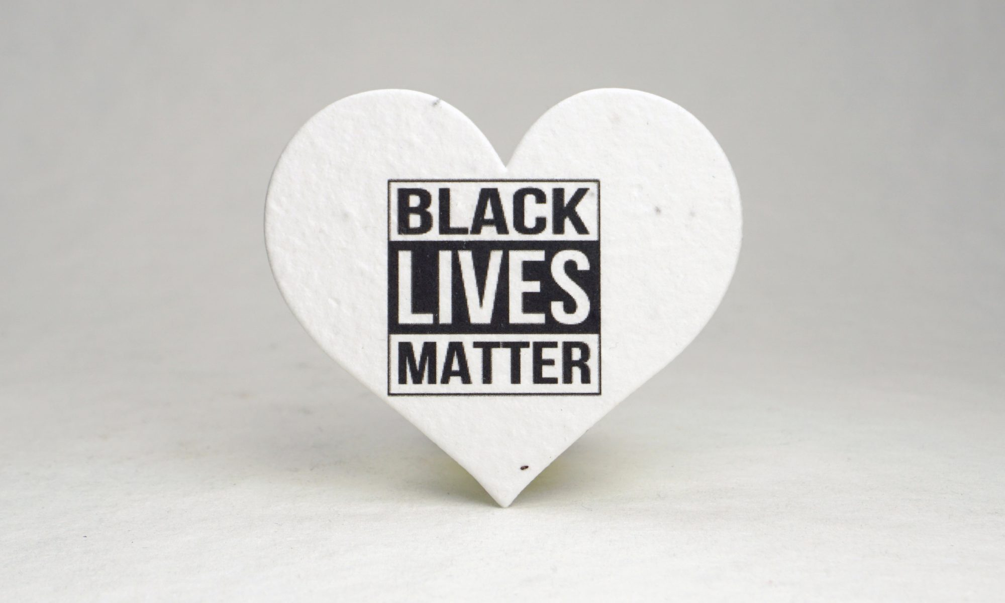 Black Lives Matters Seed Paper Heart Shape