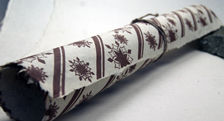 sequoia snowflake print seed embedded handmade wrapping paper