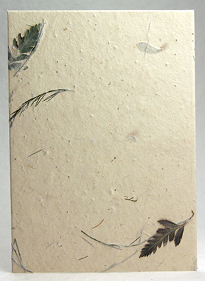 Leather Fern and Tree Fern handmade paper
