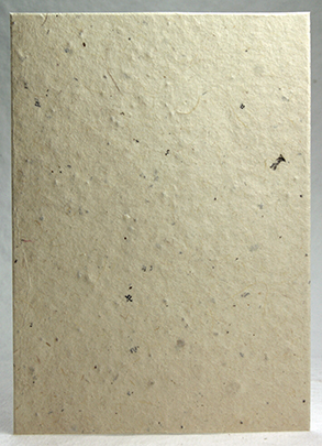 100% recycled lotka (text visible) handmade paper